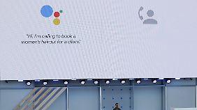 Termine vereinbaren können Googles Maschinen schon, Haare schneiden noch nicht.