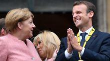 Angela Merkel würdigte Emmanuel Macron als leidenschaftlichen Europäer.