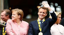 Vorschusslorbeer Karlspreis: Macron auf Obamas Spuren
