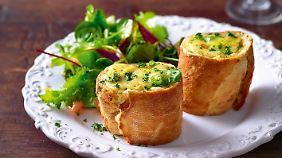 Eine überaus ansprechende Resteverwertung ist dieser Käse im Brotkästchen.