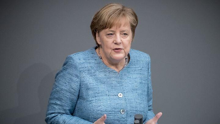Kanzlerin Merkel betonte, dass sich der Iran an die Verpflichtungen aus dem Abkommen halte.