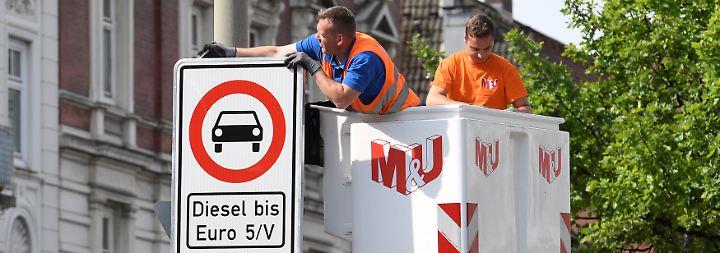 Countdown für Diesel-Fahrer: Hamburg bereitet Fahrverbote vor