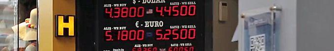 Der Börsen-Tag: 11:19 Türkische Lira springt nahe dem Abgrund
