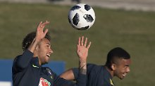 Superstar ist wieder am Ball: Neymar trainiert mit Brasiliens Nationalelf