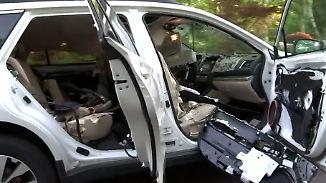 Kaum zu glauben, aber wahr: Bär steckt nach Verwüstungstour in Auto fest