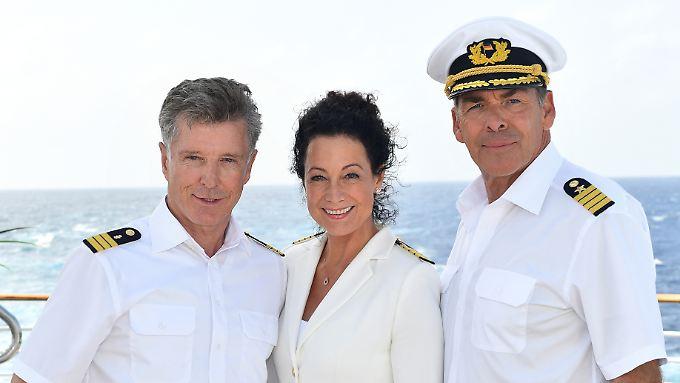 Quotengarant: Mit Unterbrechungen war Sascha Hehn (r.) seit 37 Jahren beim Traumschiff dabei.