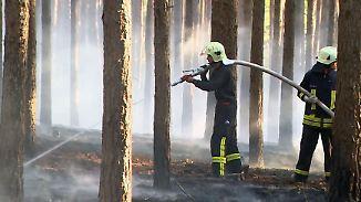Feuergefahr durch trockene Maihitze: Größter Waldbrand des Jahres wütet in Brandenburg