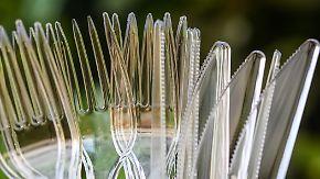Teller, Besteck, Strohhalme: EU will Wegwerfprodukte aus Plastik verbieten