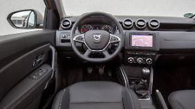Der Innenraum des Dacia Duster wirkt weniger schick als vielmehr spartanisch.