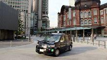 Das neue JPN-Taxi soll bis zu den olympischen Sommerspielen das Straßenbild von Tokio bestimmen.