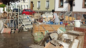 Häuser unbewohnbar, Aktenarchiv zerstört: Unwetter hinterlassen massive Schäden