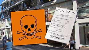 Trotz Warnungen vor Tumoren: Modekette Zara hält an giftigen Kassenzetteln fest