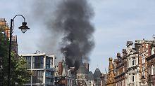 Schwarzer Rauch am Hyde Park: Großbrand in Londoner Luxushotel