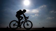 Mitunter gibt es ungeahnte Hindernisse für Radfahrer.