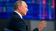 TV-Fragestunde in Russland: Putin warnt Ukraine vor Provokationen