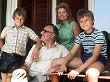 Die Familie Kohl 1975 im Urlaubsort St. Gilgen (Österreich) - rechts Peter Kohl.