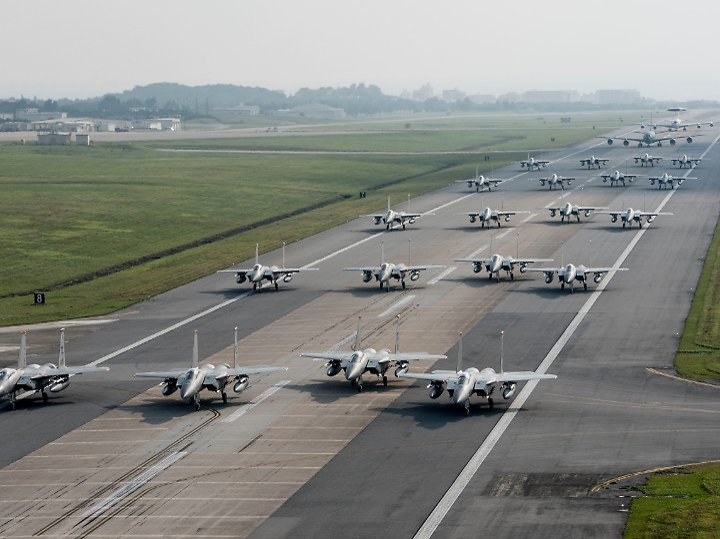Der verunglückte F15-Kampfjet soll zur US-Luftwaffenbasis Kadena in Japan gehören.