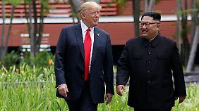 Plausch mit einem Diktator: Trump mit Kim