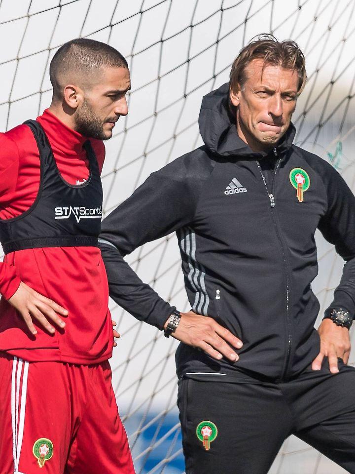 Haben den Konflikt fürs Team beendet: Hakim Ziyech und Hervé Renard.