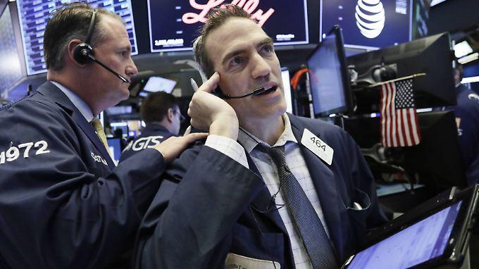 Viel zu tun gab es am Donnerstag für die Händler an der Wall Street.