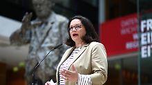 SPD kritisiert Unionsstreit: Nahles: Mätzchen nicht weiter mitmachen