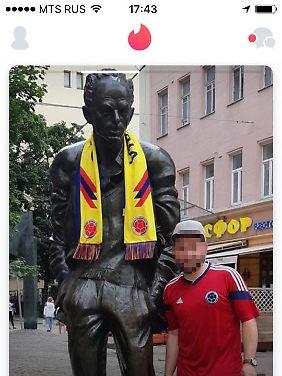 Der Fan hält es wohl mit Kolumbien.