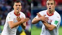 Granit Xhaka und Xherdan Shaqiri sorgen bei der Fußball-WM für politischen Ärger.