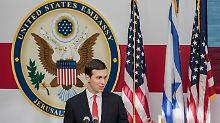 Um einen Deal zu vereinbaren, müssten beide Seiten einen Sprung machen, findet Präsident Trumps Berater und Schwiegersohn Jared Kushner.