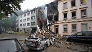 Zehn Menschen verletzt: Explosion zerstört Wohnhaus in Wuppertal