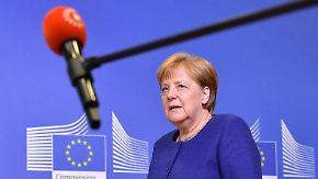 Kampf gegen die Zeit: Merkel pocht weiter auf EU-Lösung