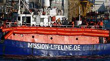 """Der Tag: Die """"Lifeline"""" ist am Hafen von Malta angekommen"""