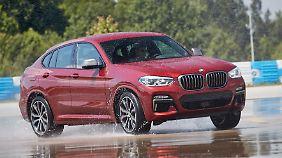 Der BMW X4 erweist sich auf dem Handlingkurs als folgsam und willig.