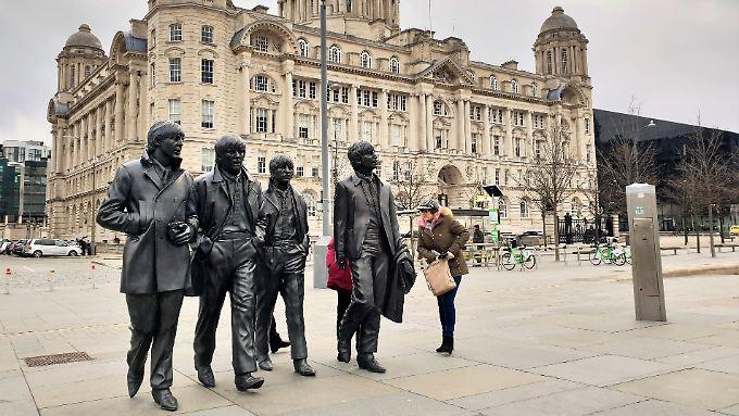Was John, Paul, George und Ringo wohl am liebsten an ihrer Heimstadt mochten? Das Wetter sicher nicht.