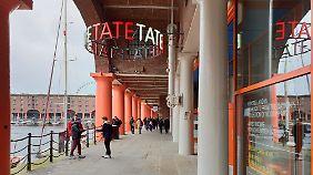 Die Tate Gallery Liverpool ist Teil des historischen Albert Docks.