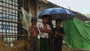 Tote nach Erdrutschen, Angst vor Cholera: Regenfluten bedrohen Rohingya-Flüchtlingscamp