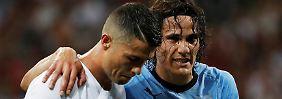 Uruguay zieht ins Viertelfinale: Cavani zaubert Ronaldo aus der WM