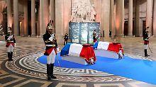 Gedenken in Frankreich: Veil in Ruhmeshalle Panthéon