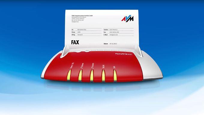 Aktuelle Fritzboxen haben eine integrierte Faxfunktion.