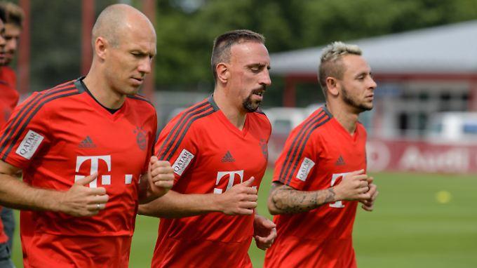 Arjen Robben und Franck Ribéry absolvieren noch eine gemeinsame Saison beim FC Bayern.