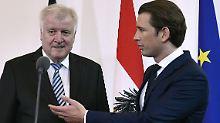Seehofer erreicht Übereinkunft in Wien.