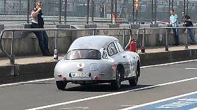 In Le Mans soll der alte Borgward Hansen noch einmal sein Können unter Beweis stellen.