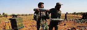 Syrische Regierungssoldaten in der Provinz Daraa.