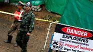 Bergung mit Hindernissen: Thailändische Jungen müssen jetzt tauchen