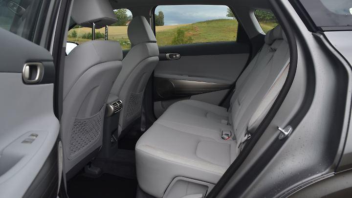 Reichlich Platz gibt's in der zweiten Reihe des Hyundai Nexo.
