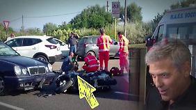 Promi-News des Tages: Clooney kommt bei Roller-Unfall mit Prellungen davon