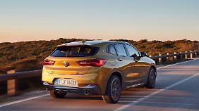 Hinter der Heckklappe des BMW X2 findet der Fahrer 470 Liter Stauraum.