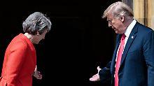 """""""Viel Respekt"""": Trump bestreitet Kritik an May"""