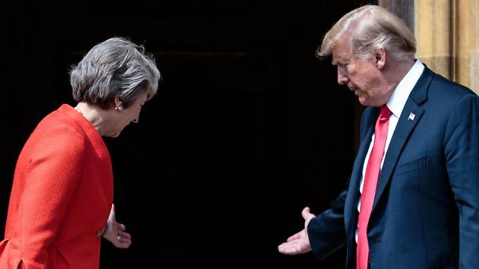 May wurde durch das Trump-Interview brüskiert.