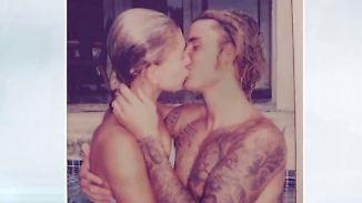 Promi-News des Tages: Bieber und Baldwin senden nasse Liebesgrüße