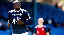 Usain Bolt, hier im Trikot des norwegischen Erstligisten Strömsgodset IF, will nun in Australien endlich Profifußballer werden.